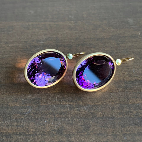 Lola Brooks Oval Amethyst Sparkler Earrings