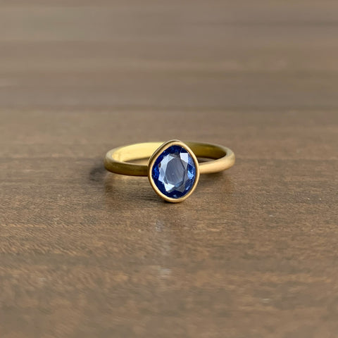 Lola Brooks Pale Blue Sapphire Sequin Ring
