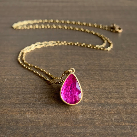 Lola Brooks Ruby Drop Pendant