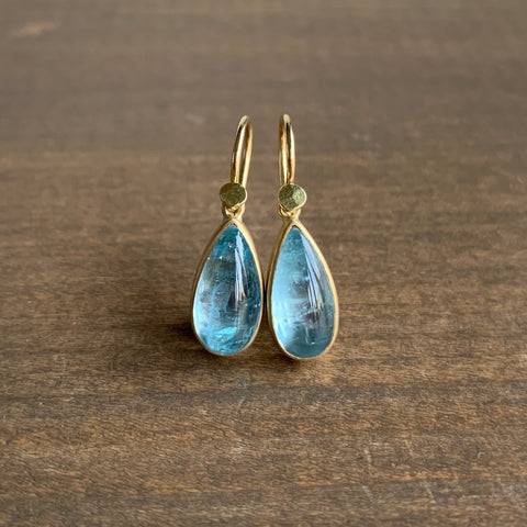 Lola Brooks Aquamarine Droplet Earrings