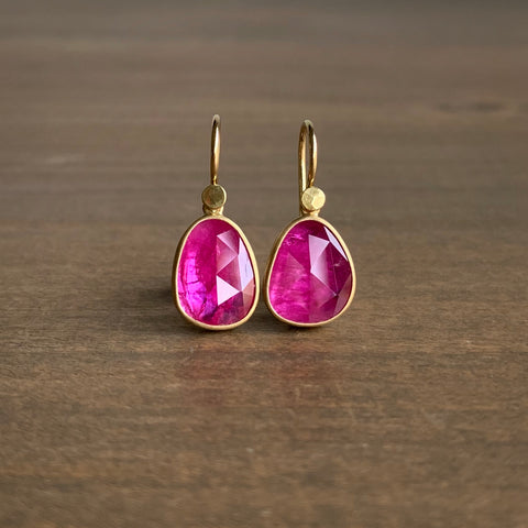 Lola Brooks Ruby Pebble Earrings