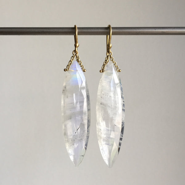 Shelley Cavanaugh Moonstone Icicle Swing Earrings