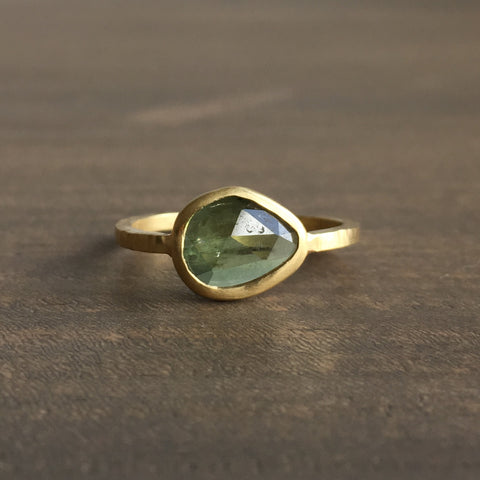 Shelley Cavanaugh Green Sapphire Ring