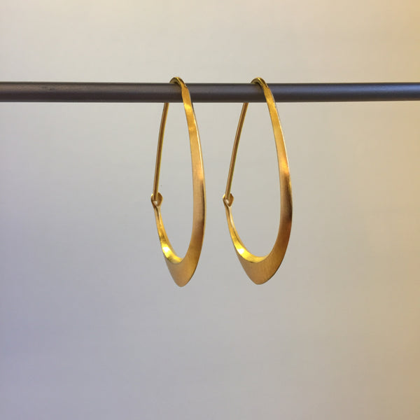 Hannah Blount Small Facet Hoop Earrings