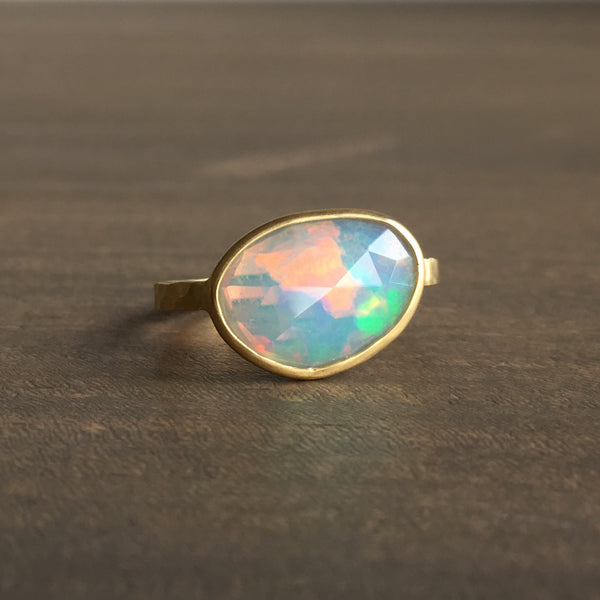 Shelley Cavanaugh Rose Cut Opal Ring