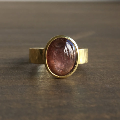 Shelley Cavanaugh Peach Sapphire Ring