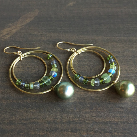 Mimi Favre Tahitian Pearl Party Hoops