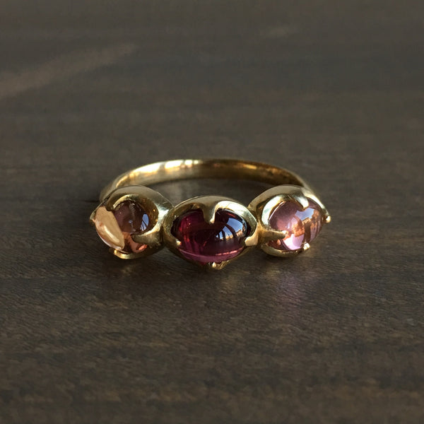 Mimi Favre Triple Pink Tourmaline Claw Ring