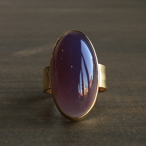 Mimi Favre Purple Chalcedony Ring