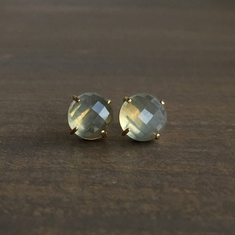 Mimi Favre Moonstone Stud Earrings