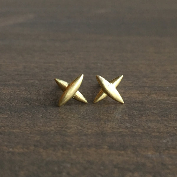 Mimi Favre Medium Star Cross Stud Earrings