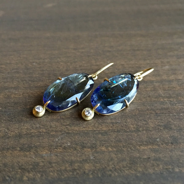 Mimi Favre Tanzanite Diamond Earrings