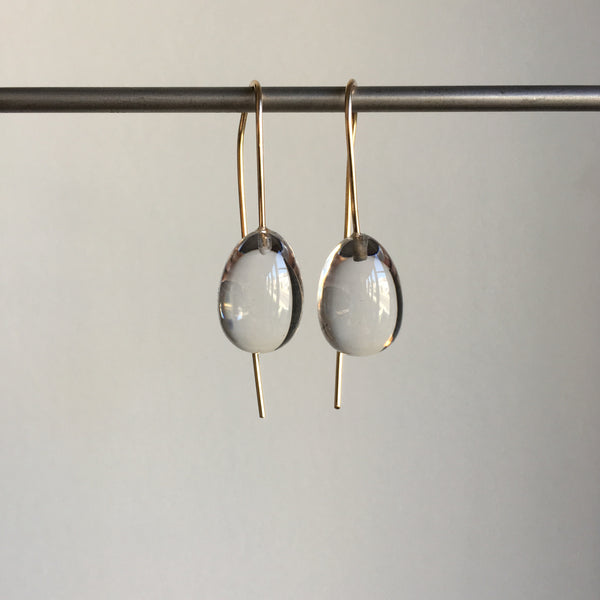 Rosanne Pugliese Rock Crystal Egg Drop Earrings