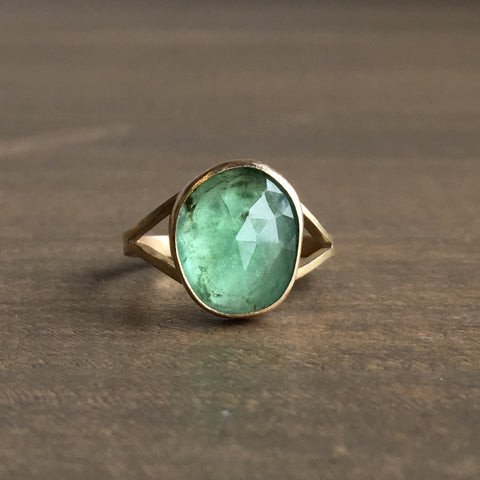 Katie Carder Emerald Cocktail Ring