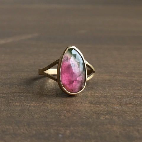 Katie Carder Watermelon Tourmaline Cocktail Ring