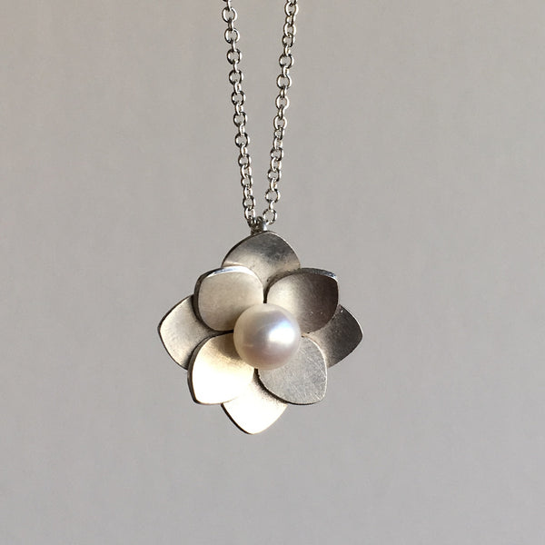 Katie Carder Hydrangea Pearl Necklace