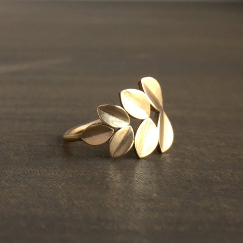 Katie Carder Large Gold Fern Ring