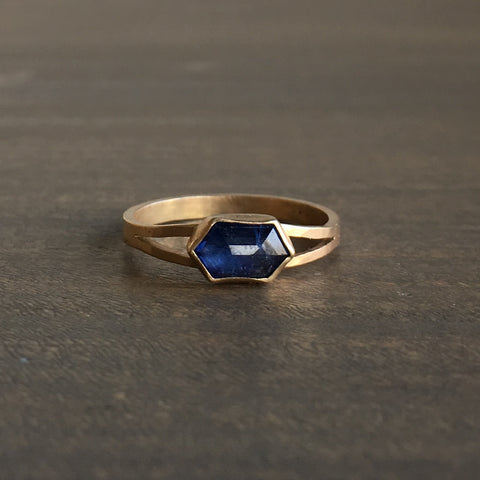 Katie Carder Hexagon Sapphire Ring