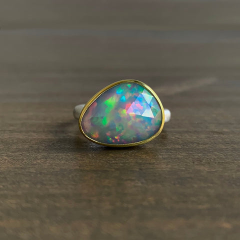 Heather Guidero Asymmetrical Rose Cut Opal Ring