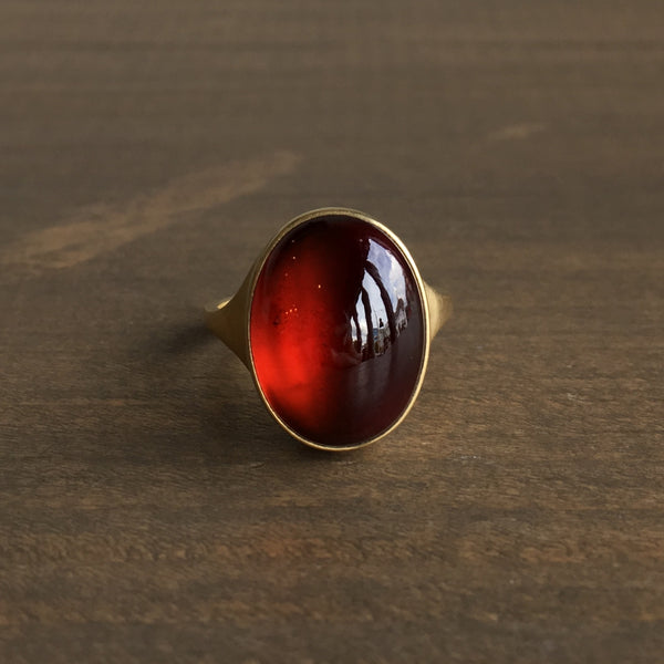 Monika Krol Hessonite Garnet Ring