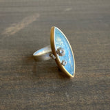 Hannah Blount Amphitrite Aquamarine Ring with Barnacles
