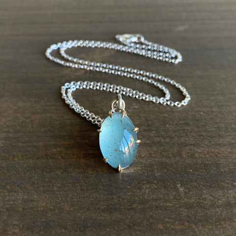 Hannah Blount Tepid Aquamarine Vanity Necklace