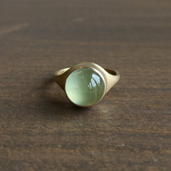 Monika Krol Round Prehnite Cast Ring