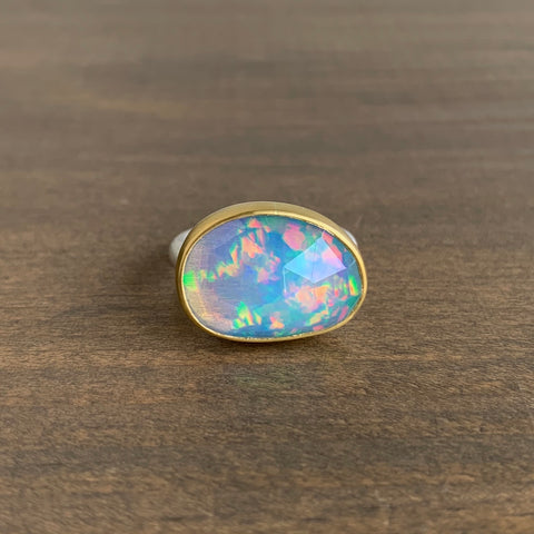 Heather Guidero Rose Cut Ethiopian Opal Ring