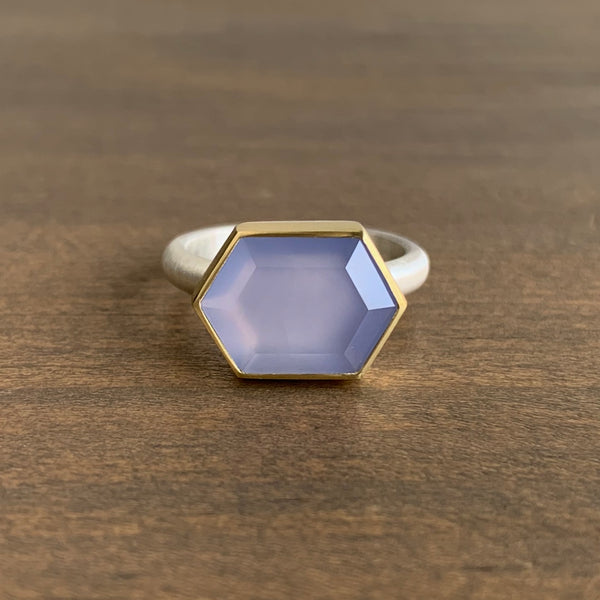 Heather Guidero Lilac Chalcedony Tablet Ring