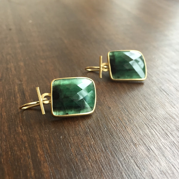 Monika Krol Emerald Slice Earrings