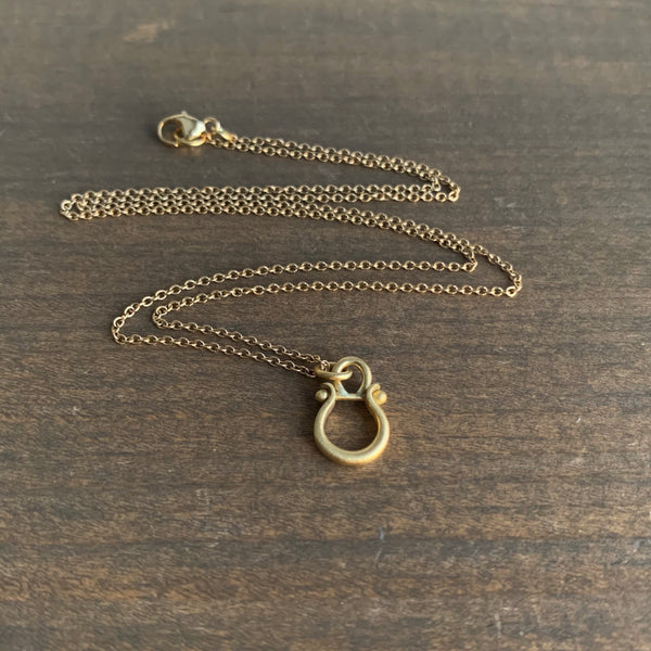 Monika Krol Mini Gold Lyre Pendant