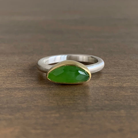 Heather Guidero Rose Cut Jade Ring