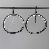 Heather Guidero Small Curved Eclipse Hoop Earrings