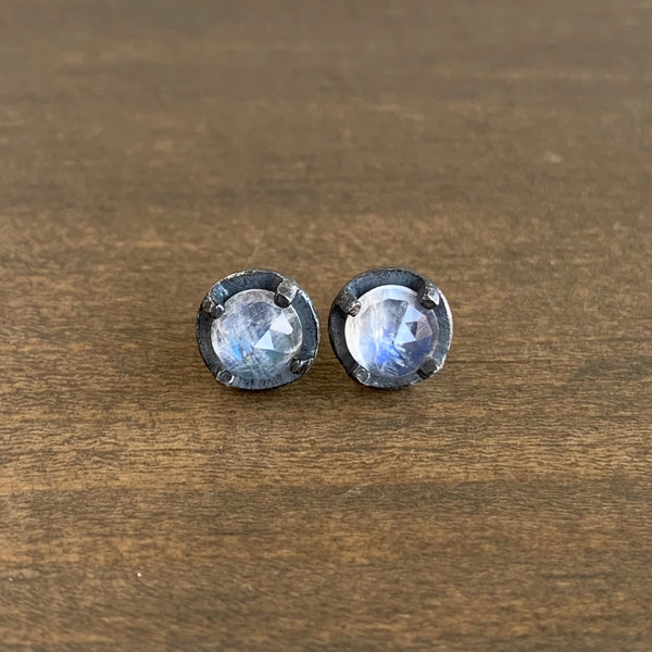 Heather Guidero Carved Prong Set Moonstone Studs