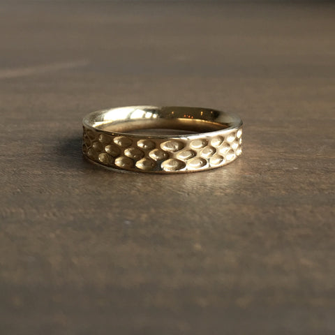 Rachel Atherley Gold Inverted Exterior Snakeskin Wedding Band