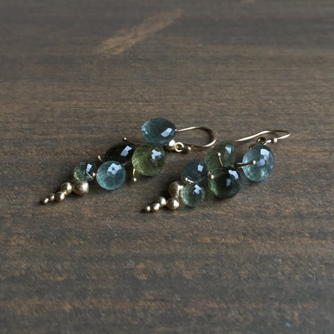 Rachel Atherley Small Moss Aquamarine Caviar Earrings