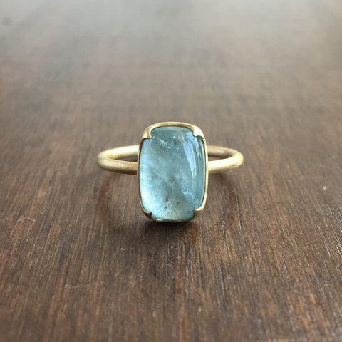 Gabriella Kiss Cushion Aquamarine Ring