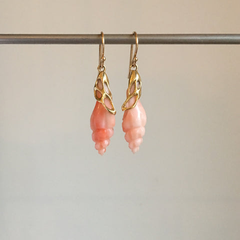 Rachel Atherley Antique Carved Coral Earrings