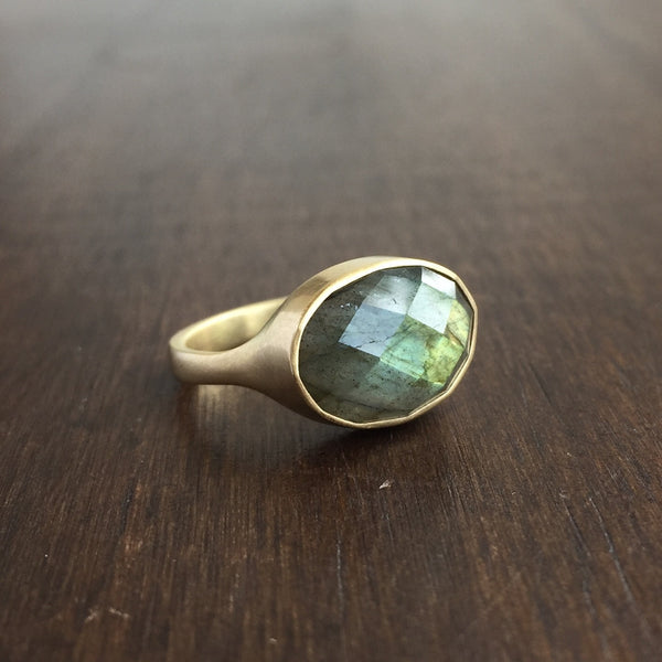Monika Krol Oval Labradorite Ring