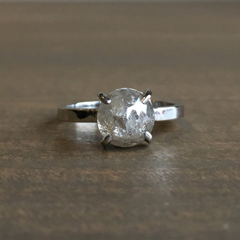 Point No Point Light Grey Diamond Engagement Ring
