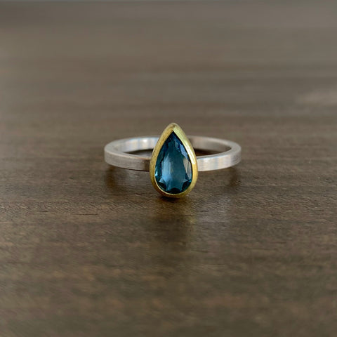 Sam Woehrmann Aquamarine Drop Ring