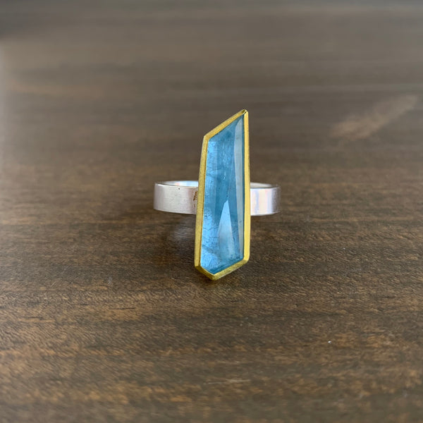 Sam Woehrmann Aquamarine Geometric Ring