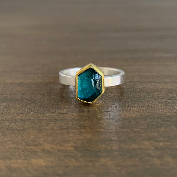 Sam Woehrmann Blue Tourmaline Crystal Ring