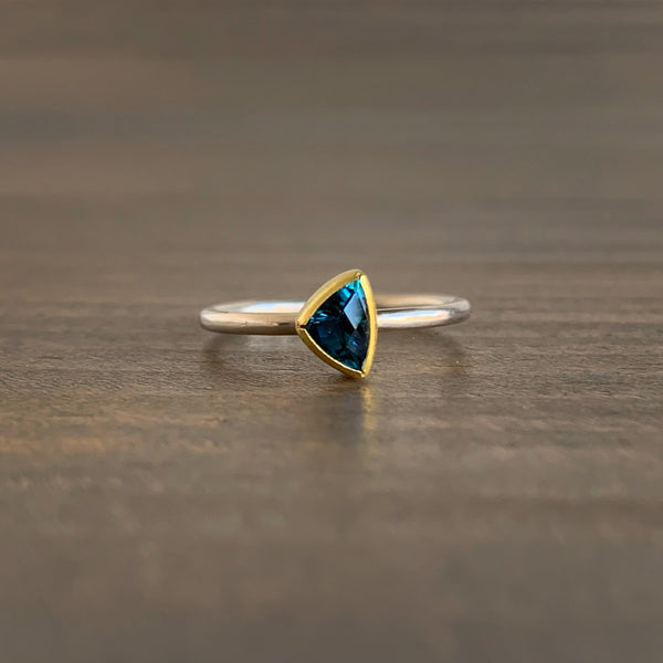 Sam Woehrmann Blue Tourmaline Triangle Ring
