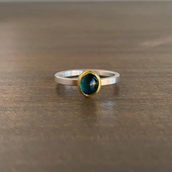 Sam Woehrmann Blue Tourmaline Nugget Ring