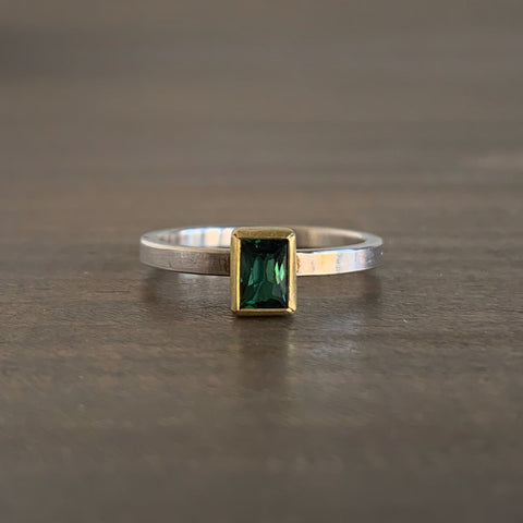 Sam Woehrmann Tourmaline Rectangle Ring