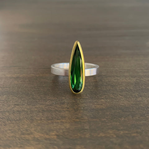 Sam Woehrmann Tourmaline Drop Ring