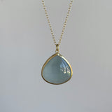 Monica Marcella Pear Aquamarine Necklace
