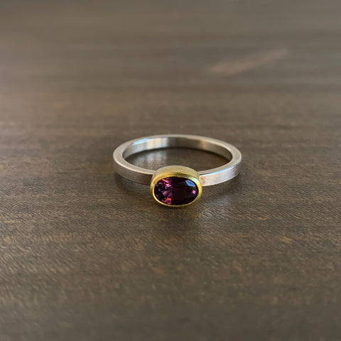 Sam Woehrmann Purple Spinel Oval Ring