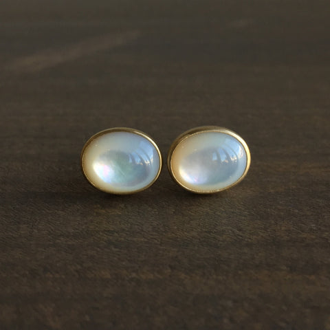 Monika Krol Mother of Pearl Studs